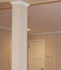 Easy Wrap column sleeves in Annapolis basement