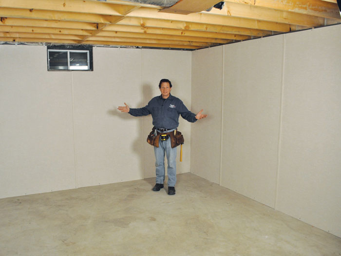 You Ll Love This Innovative Way To Insulate And Finish Your Basement Walls Basement To Beautiful Wall Paneling System