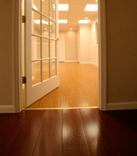 Basement Wood Flooring installed in Parkville, Maryland