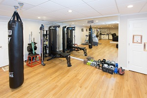 Installation of a basement gym in Silver Spring