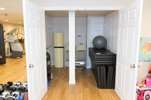 TBF finished basement with home gym in Columbia
