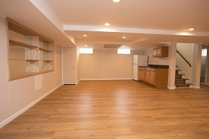 A beautiful, finished basement in Greater Columbia