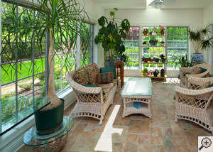 A cozy sunroom design in Beltsville